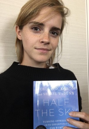 Emma Watson interviews authors Nicholas Kristof and Sheryl WuDunn