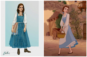 "Emma Watson's Belle Costume for ""Beauty and the Beast"""