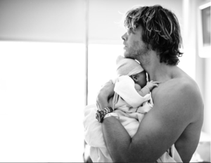 Eric Christian Olsen and daughter Esmé Olivia Olsen