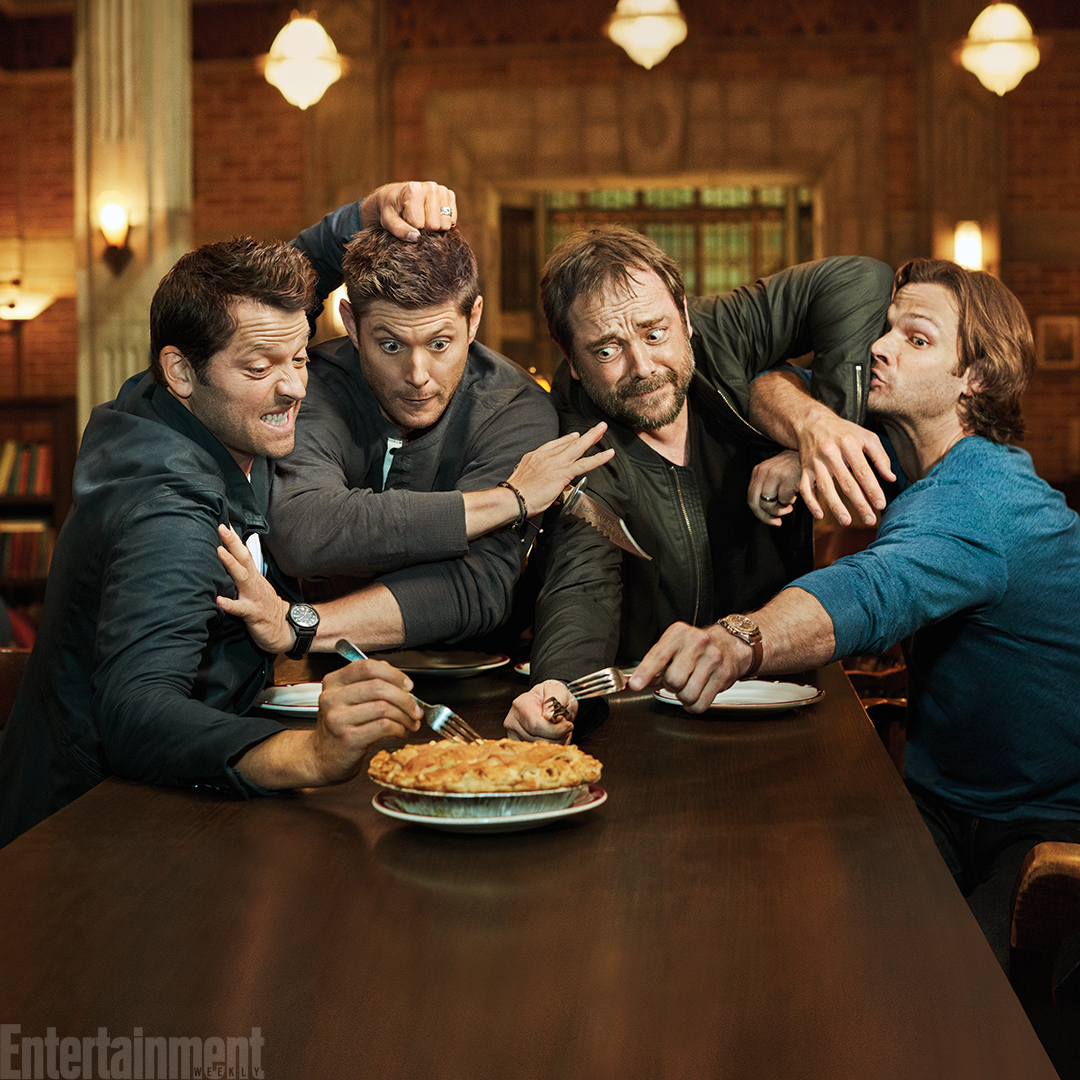 Exclusive foto of the supernatural Cast | Misha, Jensen, Mark, and Jared