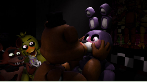 five nights at freddy's wallpaper called Fronnie ciuman
