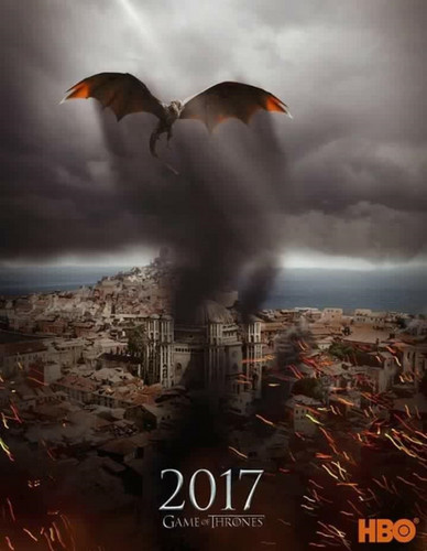 Game of Thrones karatasi la kupamba ukuta called Game Of Thrones- Season 7- Poster