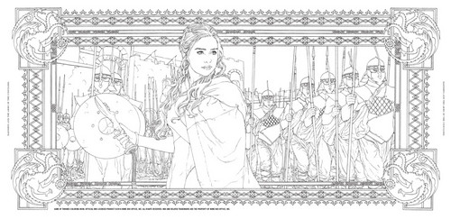 Игра престолов Обои entitled Game of Thrones - Coloring Book