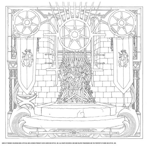 Game of Thrones wallpaper entitled Game of Thrones - Coloring Book