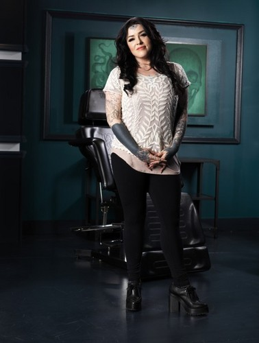 Ink Master wallpaper possibly with a well dressed person and a hip boot entitled Gia Rose | Ink Master: Peck vs Nuñez