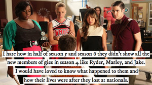 glee/グリー confession (Season 4 newbies)