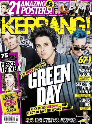 Green araw on the Cover of Kerrang! Magazine (August 2016)