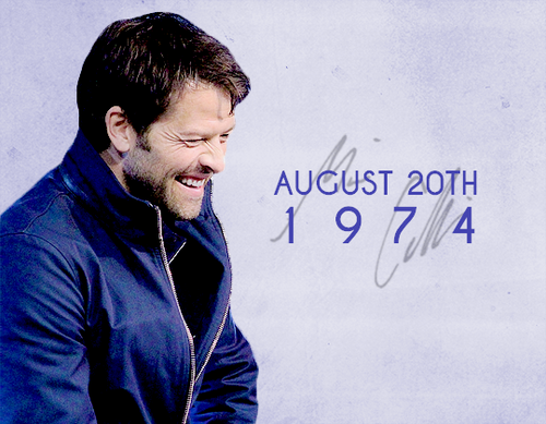Misha Collins Wallpaper Titled Happy Birthday