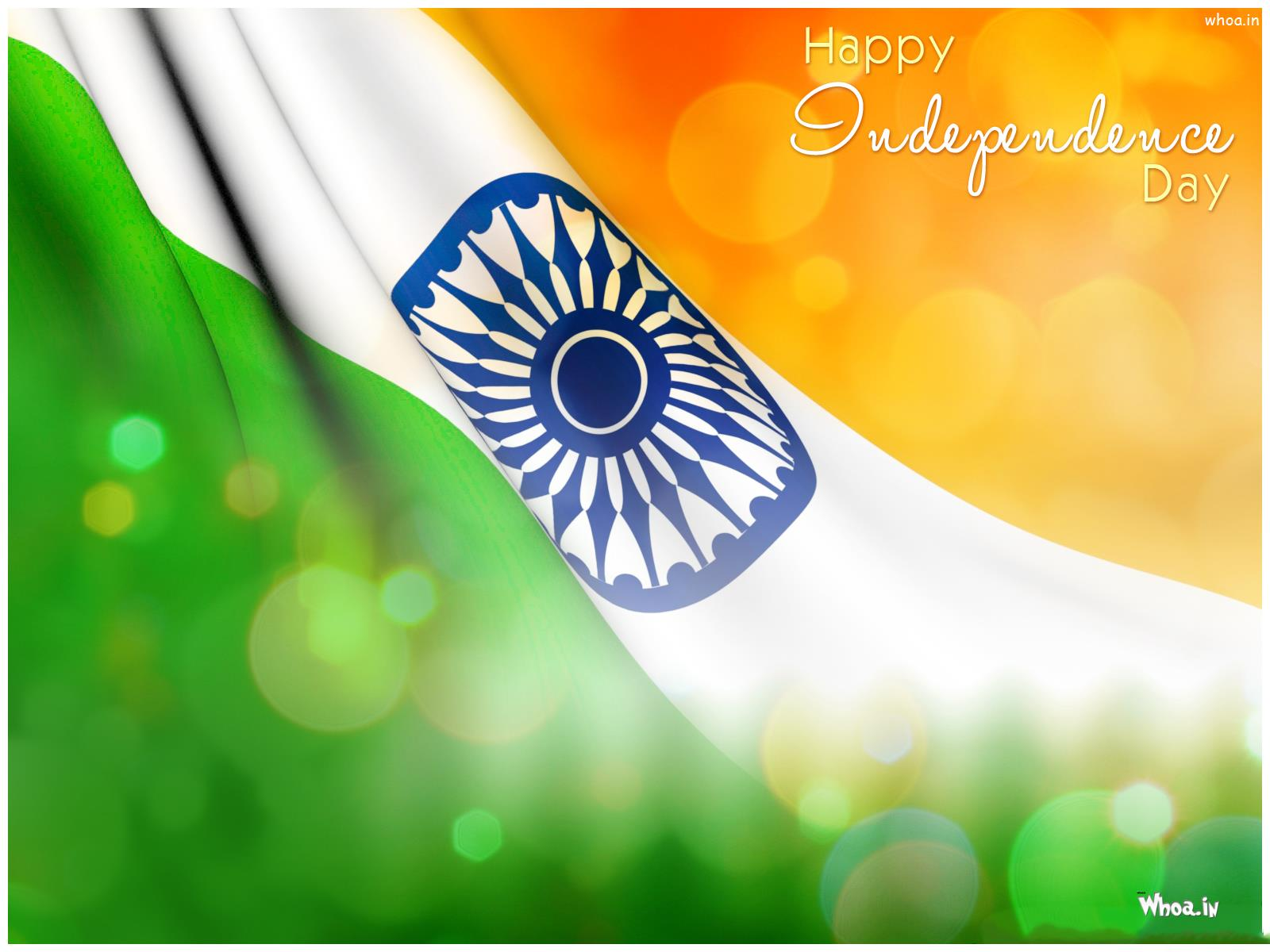 Happy Independence dia with Tri Colour Flag HD wallpaper