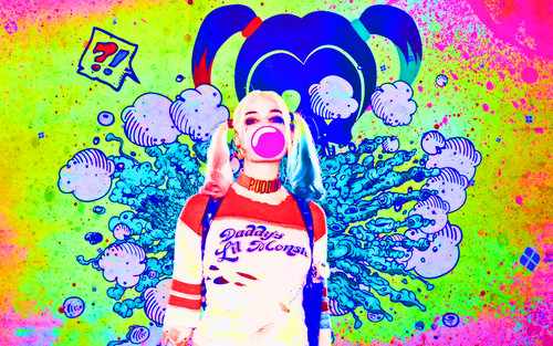 Harley Quinn wallpaper probably containing anime called Harley Quinn - Suicide Squad Wallpaper
