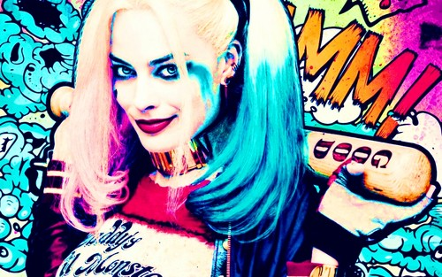 Suicide Squad kertas dinding probably containing Anime called Harley Quinn