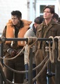 Harry Styles and Cillian Murphy on the set of Dunkirk - harry-styles photo