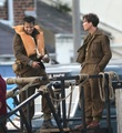 "Harry Styles and Cillian Murphy on the set of ""Dunkirk."" - harry-styles photo"