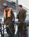 Harry Styles and Cillian Murphy on the set of Dunkirk - harry-styles photo
