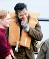 Harry Styles and Tom Glynn-Carney on the set of Dunkirk - harry-styles photo