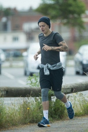Harry out jogging