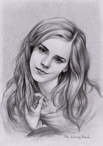 hermione granger wallpaper with a portrait titled Hermione Realistic Drawing