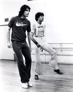 John Travolta '77 rehersal