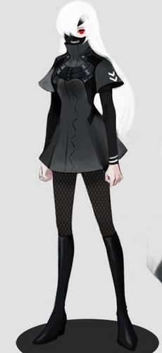 """Tokyo Ghoul (Токийский гуль) Обои probably containing a hip boot, a well dressed person, and an overgarment titled Kaneki genderbend """"Kendra Kenaki"""""""