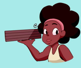 Steven Universe hình nền called Kiki Delivering pizza, bánh pizza