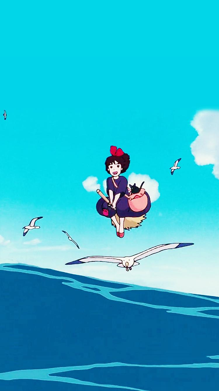 Studio Ghibli Fond Decran Entitled Kikis Delivery Service Phone Background