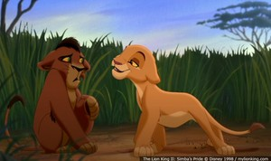 Kovu and Kiara as Cubs