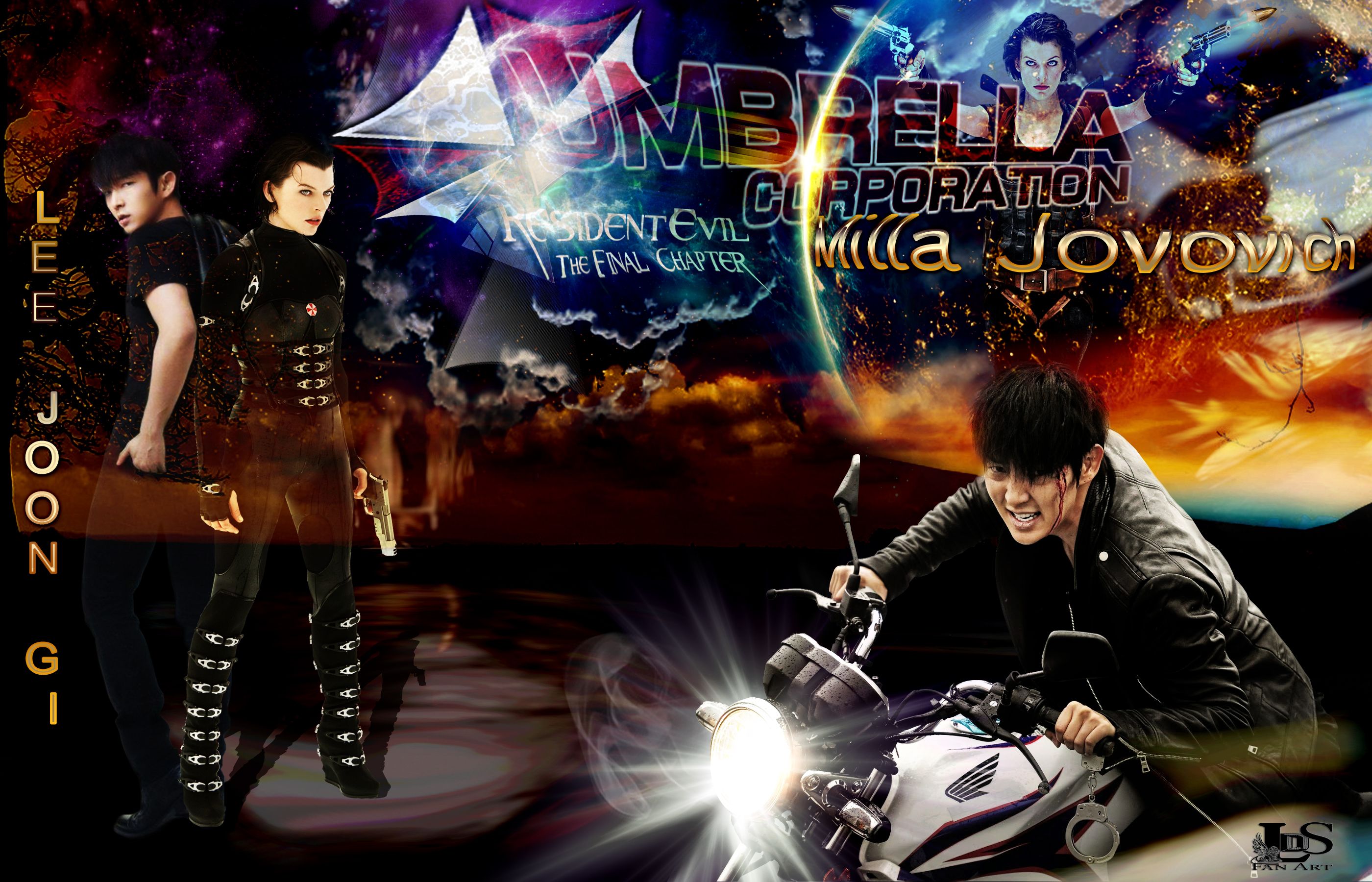 Lee Jun Ki Lee Joon Gi Milla Jovovich Resident Evil Lee