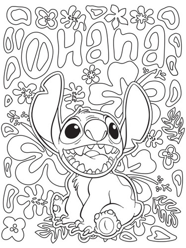 Lilo & Stitch 바탕화면 titled Lilo and Stitch Coloring Page