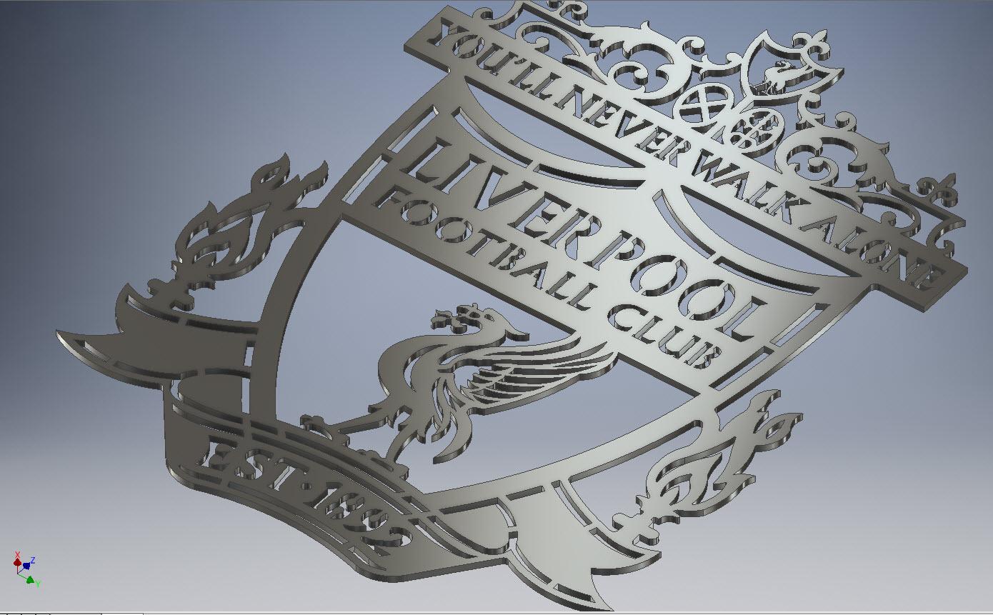 Liverpool logo metal