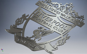 Liverpool logo metal