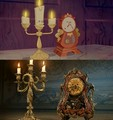 Lumiere and Cogsworth  - beauty-and-the-beast photo