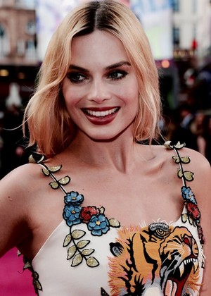 Margot at the premiere of Suicide Squad