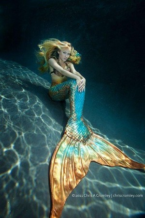 Mermaid with emas Tail