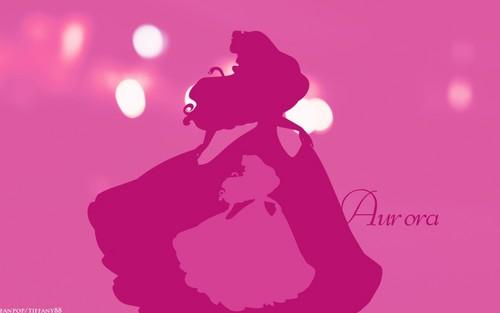 Disney Princess wolpeyper entitled Minimalist style - Aurora