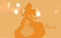Minimalist style - Belle - disney-princess wallpaper