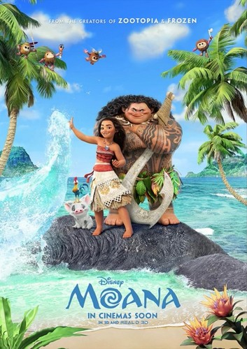 Disney's Moana Hintergrund probably containing Anime titled Moana Intenational Posters
