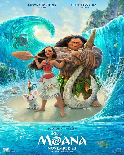 Disney's Moana Hintergrund probably with a bather, a water, and Anime titled Moana New Poster