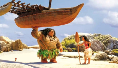 Moana wallpaper with a boater entitled Moana and Maui