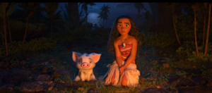 Moana and her pet