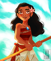 Moana - childhood-animated-movie-heroines fan art