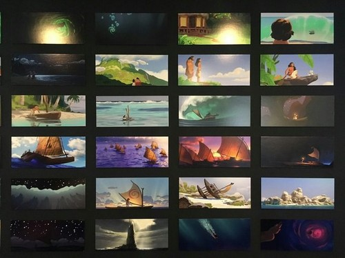 Disney's Moana Hintergrund entitled Moana color script panels