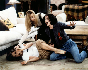 Monica and Rachel in a fight
