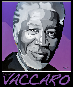 Morgan Freeman Oil Painting