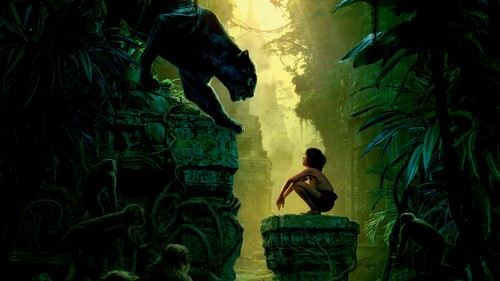The Jungle Book Обои probably with a фонтан called Mowgli and Bagheera
