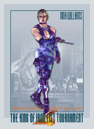 Nina Williams - Purple Suit - टेककेन 4 Sketch