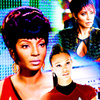 Star Trek (2009) photo with a bearskin and a portrait entitled Nyota Uhura