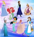 Pastel disney Princess icon