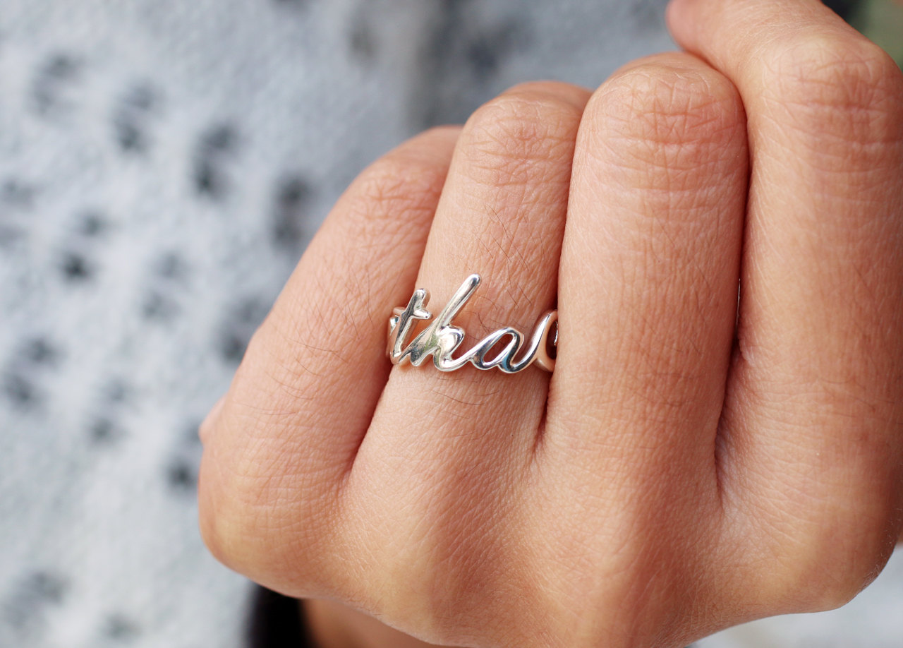 vulcanjewelry images personalized name ring unique gifts unusual