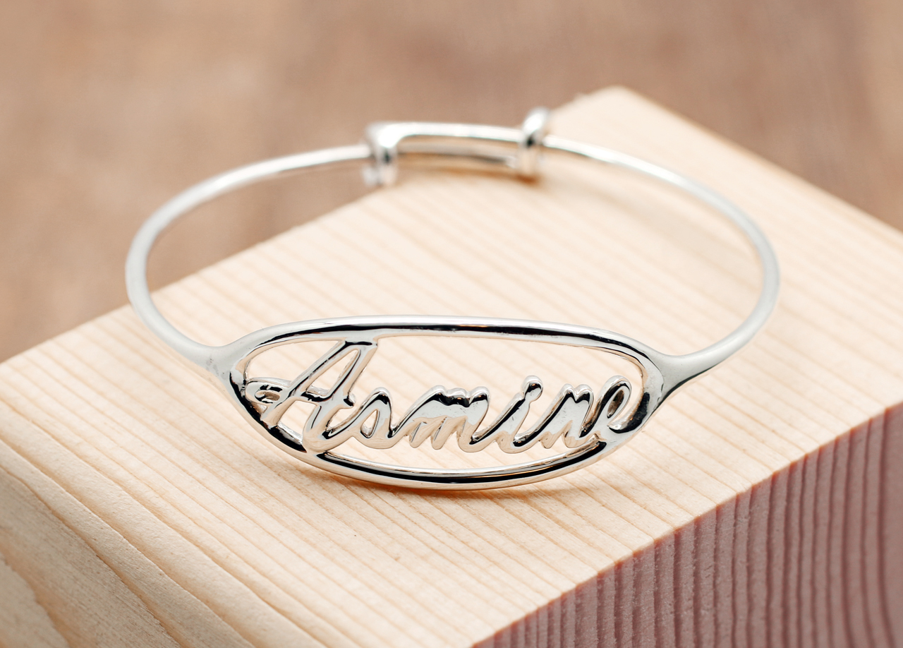 f894f728f7ac2 Popular Personalized Kids Jewelry, Personalized name Bangle, Infant ...