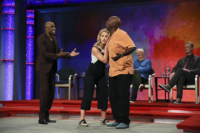 Promo stills of Emily as the celebrity guest on Whose Line Is It Anyway? airing September 14th!